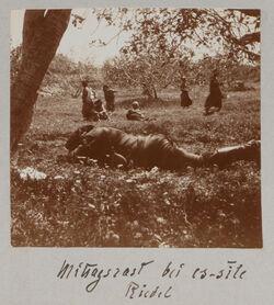 Fotoalbum Mittagsrast bei es-sile. Riedel.