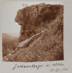 Fotoalbum Jothamskanzel vor nablus. 10. Apr. 1905.