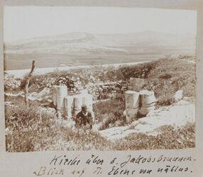 Fotoalbum Kirche über d. Jakobsbrunnen [Garizim]. Blick auf die Ebene von nablus.
