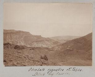 Fotoalbum Oberhalb ez-zuwera [Mizpe zohar] et-tahta. Blick auf dasselbe.