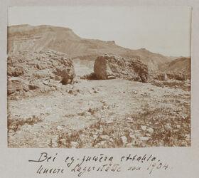 Fotoalbum Bei ez-zuwera [Mizpe zohar] et-tahta. Unser Lagerplatz von 1904.