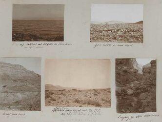 GDIs01565; Fotoalbum; -, Album Gustaf Dalman, 1905-06, Rückseite Blatt 13 und Vorderseite Blatt 14 [Bilder: GDIs01565-GDIs01570]