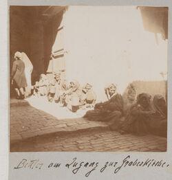 Fotoalbum Bettler am Zugang zur Grabeskirche [Jerusalem].