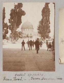 Fotoalbum kubbet es-sachra [Jerusalem, Tempelberg]. Fenner, Thomä, - , Dalman, Baumann, Trusen.l