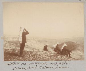 Fotoalbum Blick von el-muntar nach Osten. Dalman, Thomä, Hartmann, Jeremias.