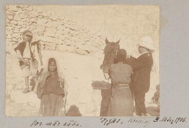 Fotoalbum Vor mar saba. Ezzat, Horning 3. März 1906.