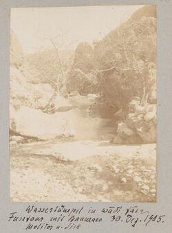 Fotoalbum Wassertümpel im wadi fara Fusstour mit Baumann Molitor u. Sick [ain fara] 30. Dez. 1905
