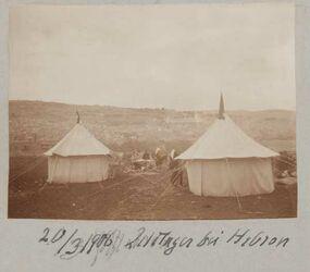 Fotoalbum 20/3 1906 Zeltlager bei Hebron
