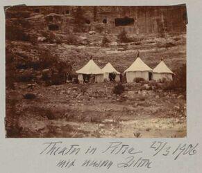 Fotoalbum Theater in Petra mit unseren Zelten 27/3 1906