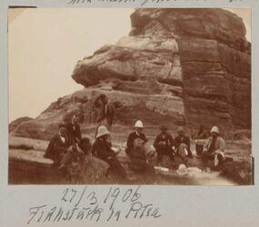 Fotoalbum 27/3 1906 Frühstück in Petra
