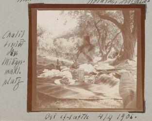 Fotoalbum Chalil bereitet den Mittagsmahlplatz Bei et-tafile 4/4 1906.