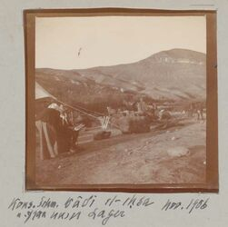 Fotoalbum Kons. Schm. [Edmund Schmidt] u. Frau wadi el-ehsa unser Lager Nov. 1906