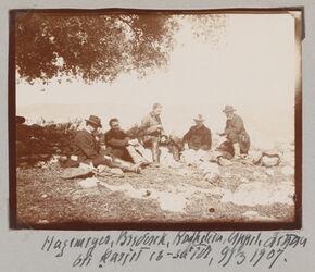 Fotoalbum Hagemeyer, Brederek, Rothstein, Appel, Littau [?] bei karjet es-saide [sa