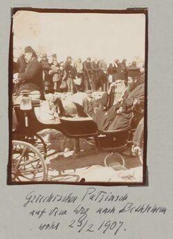 Fotoalbum Griechischer Patriarch auf dem Weg nach Bethlehem wohl 23/2 1907