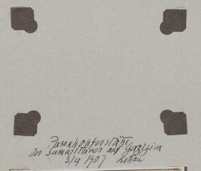 Fotoalbum Passahopferstäbe der Samaritaner auf Garizim 3/4 1907 Littau [?]