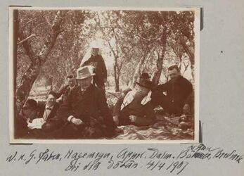 Fotoalbum W. u. G. Faber, Hagemeyer, Appel, Dalm., Littau [?], Böhmer, Brederek bei der Dotan [Dothan], 4/4 1907