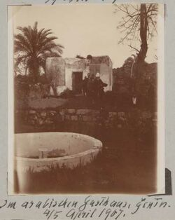 Fotoalbum Im arabischen Gasthaus, Genin [jenin, djenin, dschenin]. 4./5. April 1907.