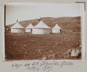 Fotoalbum Lager am tell gohadar, Golan. 14.15/4 1907.