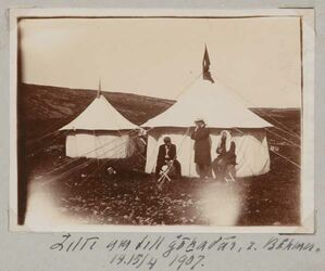 Fotoalbum Zelte am Tell gohadar [Nähe Golan], z. Böhmer. 14.15/4 1907.