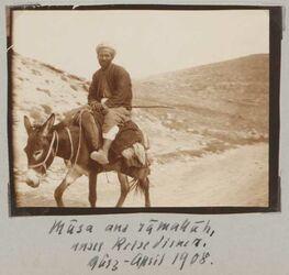 Fotoalbum Musa aus ramallah, unser Reisediener. März-April 1908.