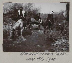 Fotoalbum Am wadi nimrin im ror. Wohl 14/4 1908.