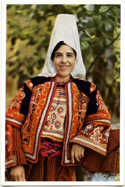 Postkarte Woman of Bethlehem. Femme de Bethléem. Bethlehemitin