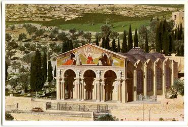 Postkarte Jerusalem. Die Gethsemane-Kirche