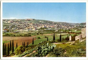 Postkarte Nazareth. Blick gegen Norden