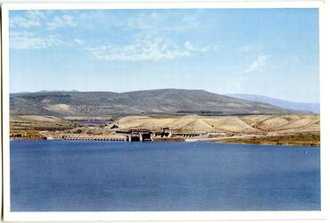 Postkarte The Jordan Barrage of the Ruthenberg Power Station. Le Barrage du Jourdain (Usine d