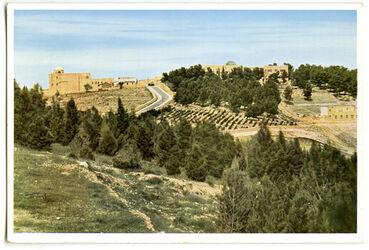 Postkarte Jerusalem. The Jewish University. L