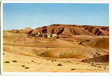 Postkarte Nebi-Musa in der Wüste Juda nach muhamedanischer Überlieferung das Grab Moses
