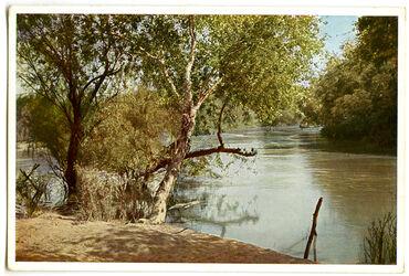 Postkarte Die Taufstelle am Jordan