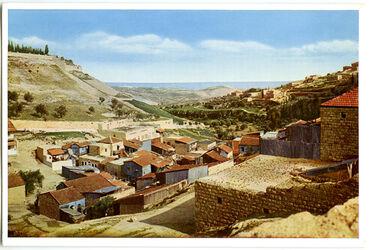 Postkarte Jerusalem. Das Hinnom-Tal von Westen