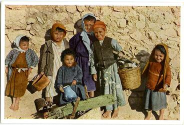 Postkarte Kindergruppe aus Jerusalem