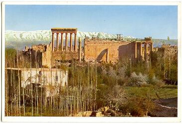 Postkarte Baalbek. Akropolis