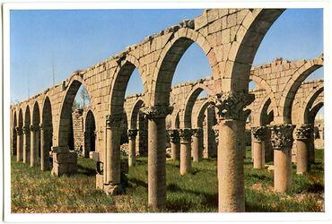 Postkarte Baalbek. Ruinen einer Moschee