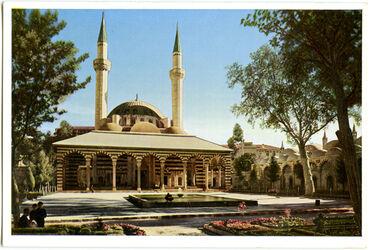 Postkarte Damaskus. Die Tekieh Moschee