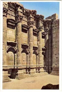 Postkarte Baalbek. Bacchustempel, Inneres