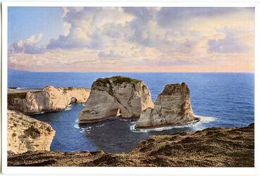 Postkarte Beirut. Die Taubengrotten