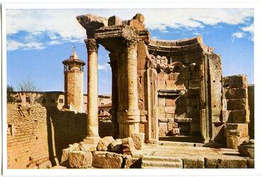 Postkarte Baalbek. Der Venustempel
