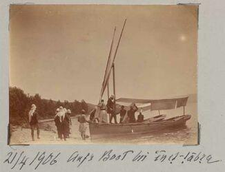 Fotoalbum 21/4 1906 Aufs Boot bei