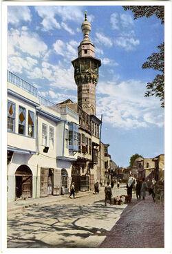 Postkarte Damaskus. Die Selim-Moschee