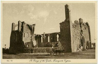 Postkarte St. George of the Greeks, Famagusta Cyprus [Zypern] [rückseitig: Mantovani Tourist Agency, Larnaca Cyprus]