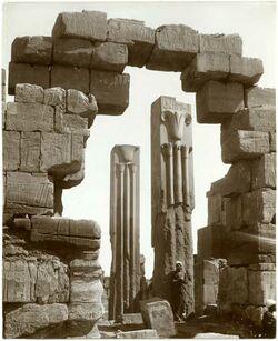 Fotografie Karnak. Les deux Stèles, Lotus et Papyrus