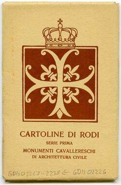 Postkarte [Hülle für Postkartenserie] Monumenti cavallereschi di Architettura civile [Rhodos]