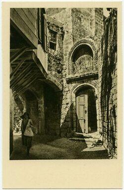 Postkarte Rodi [Rhodos]. Il portale di una chiesetta cavalleresca.