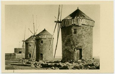 Postkarte Rodi [Rhodos]. I vecchi molini.