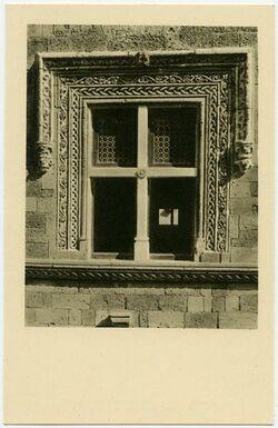 Postkarte Rodi [Rhodos]. Una finestra di Via die Cavalieri.