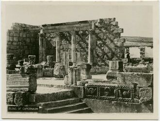 Postkarte Ruins of Capernaum [Kapernaum, Kafarnaum]
