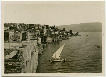 Postkarte Tiberias from the lake